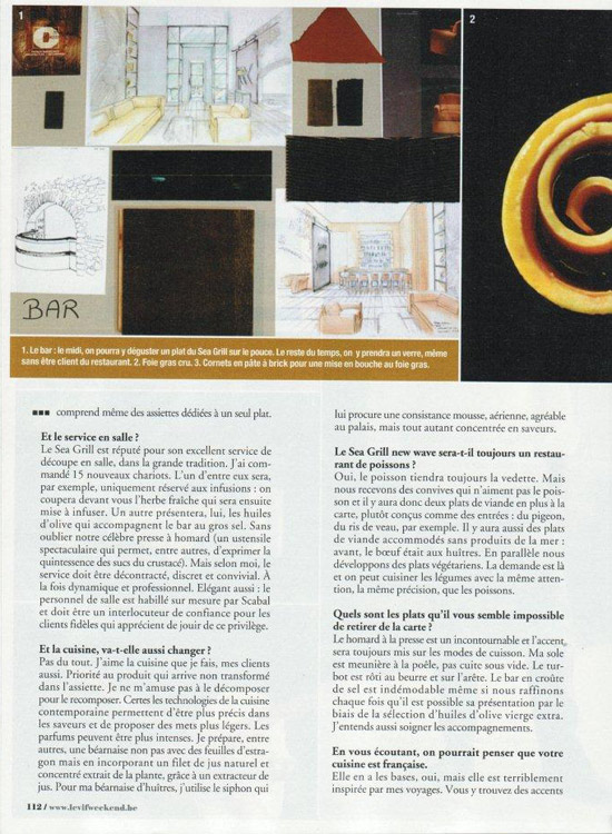 Article paru dans le vif express bruxelles nouveau for Article de restaurant