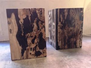 Tabouret bois pétrifié 2