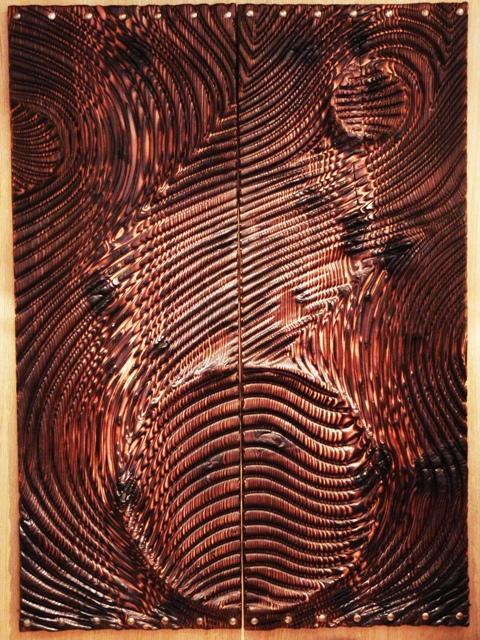 Panneau en bois sculpté d'Etienne Moyat